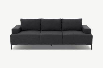 An Image of Frederik 3 Seater Sofa, Sterling Grey