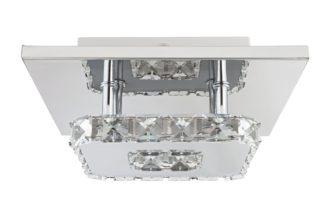 An Image of Argos Home Cecilia Flush Ceiling Light - Chrome