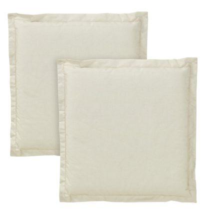 An Image of Argos Home 2 Pack Garden Cushion Pads - Cream