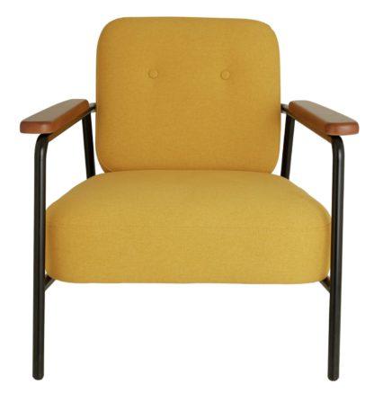 An Image of Habitat Cooper Yellow Fabric Armchair