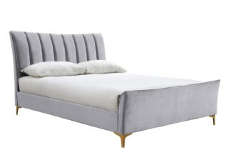 An Image of Birlea Clover Small Double Bed Frame - Grey