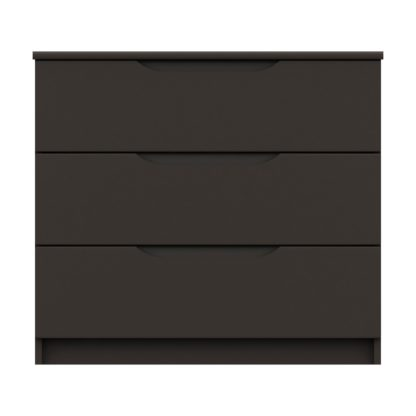 An Image of Legato Graphite 3 Drawer Chest Black