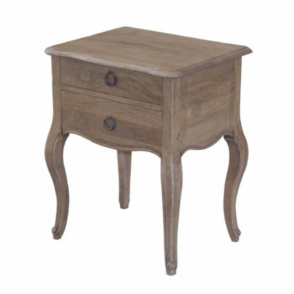 An Image of Amelie 2 Drawer Bedside Table Brown