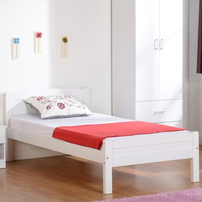 An Image of Amber Wooden Bedstead Pine