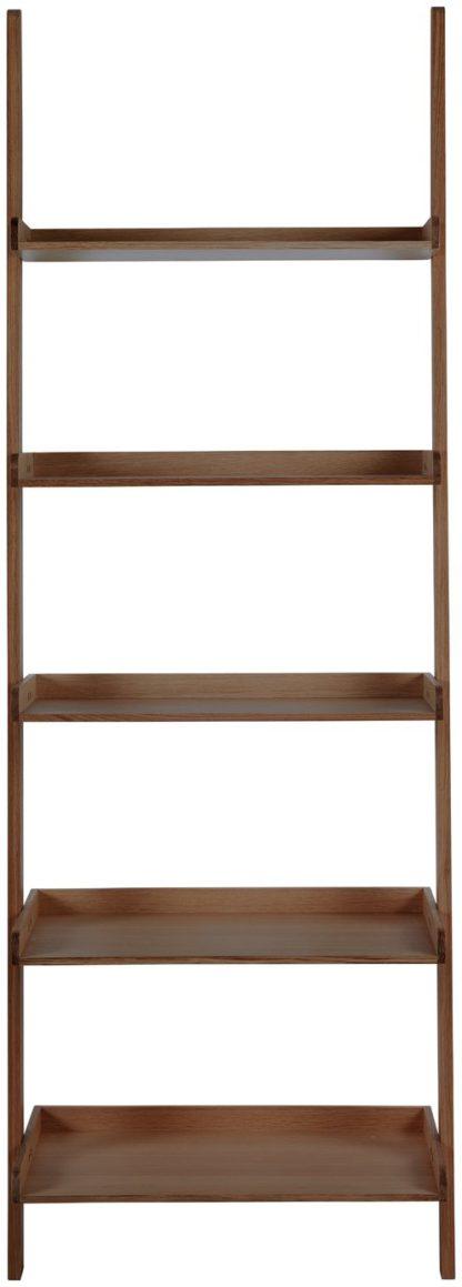 An Image of Habitat Jessie Wide Bookcase - Walnut Effect
