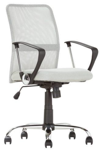 An Image of Habitat Mesh Mid Back Ergonomic Office Chair - Grey