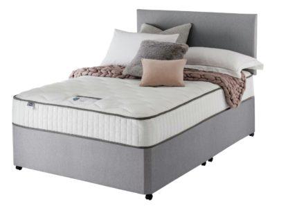 An Image of Silentnight Middleton 800 Pkt Memory Double Divan Bed -Grey