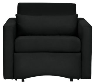 An Image of Argos Home Reagan Faux Leather Chairbed - Black