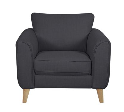 An Image of Habitat Cooper Fabric Armchair - Charcoal