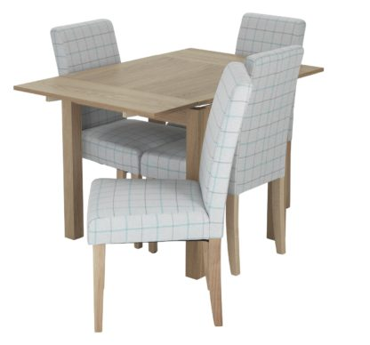 An Image of Habitat Clifton Extending Table & 4 Chairs - Light Grey
