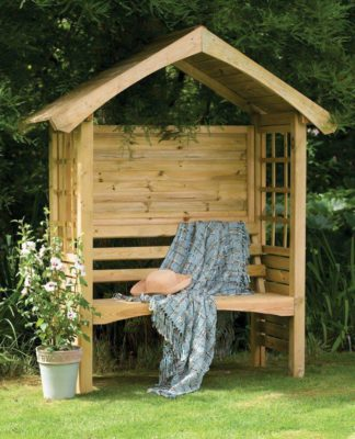 An Image of Forest Cadiz Wooden 2 Seater Arbour