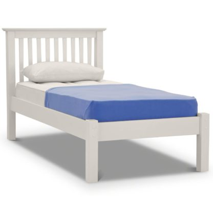 An Image of Barcelona Low Foot End Bed Frame White