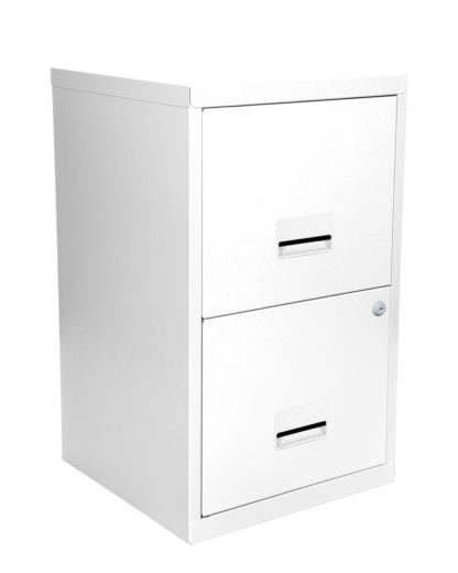An Image of Pierre Henry A4 2 Drawer Filing Cabinet - White