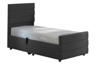 An Image of MiBed Orpington Adjustable Single Bed and Memory Mattress