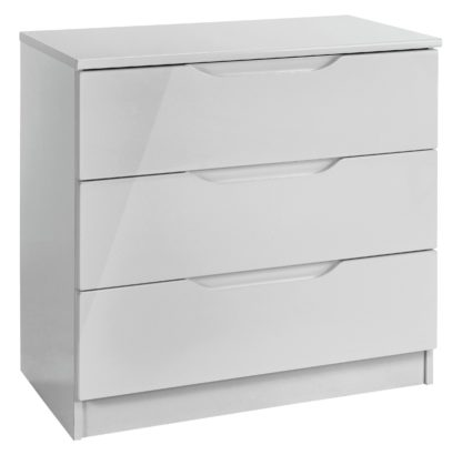 An Image of Legato 3 Drawer Chest - Grey Gloss