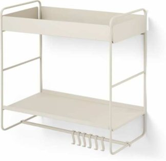 An Image of Isolde 2 Tier Interchangeable Wall Mounted Storage Unit, Putty