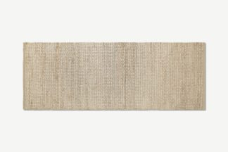 An Image of Enas Jute Runner, 70 x 200cm, White