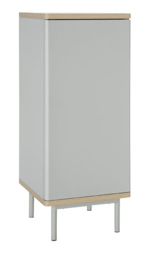 An Image of Habitat Freja 1 Door Cabinet - Grey
