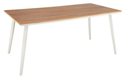 An Image of Argos Home Polywood Wood Effect 6 Seater Table
