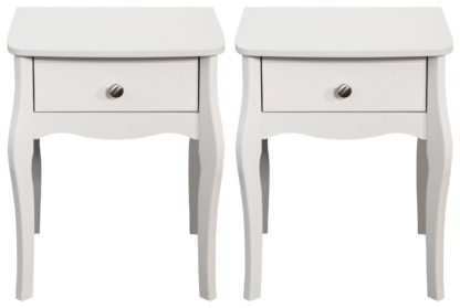An Image of Amelie 2 Bedside Tables - White