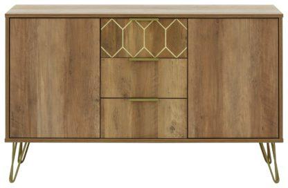 An Image of Orleans 2 Door 3 Drawer Sideboard - Mango Wood Effect