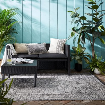 An Image of Edith Indoor Outdoor Rug Grey