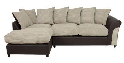An Image of Argos Home Harry Left Corner Fabric Sofa - Natural