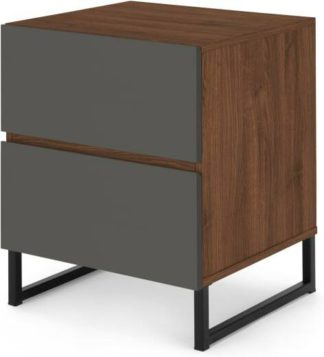 An Image of Hopkins Bedside, Grey and Walnut Effect