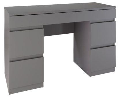 An Image of Habitat Jenson 6 Drawer Dressing Table Desk - White Gloss