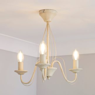 An Image of 3 Light Candelabra Cream Ceiling Fitting Cream