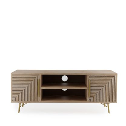 An Image of Grooved TV Stand Brown