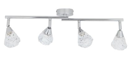 An Image of Argos Home Disco 4 Light Spotlight Bar