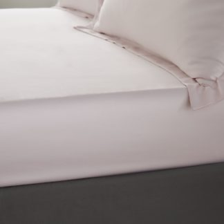 An Image of Catherine Lansfield Silky Soft Satin Fitted Sheet Blush (Pink)