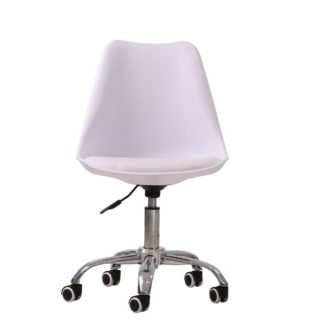 An Image of Orsen Swivel Office Chair - White White
