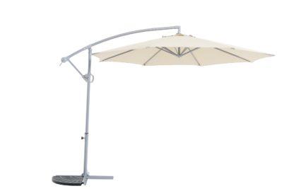 An Image of Argos Home Rotating Overhanging Garden Parasol - Cream