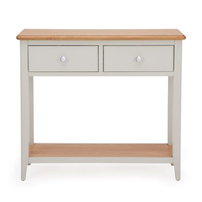 An Image of Freya Console Table Grey and Brown