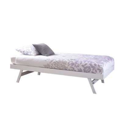 An Image of Madrid White Wooden Trundle White