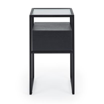 An Image of Dillon Black Side Table Black