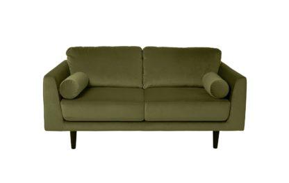 An Image of Habitat Jackson 2 Seater Velvet Sofa - Black