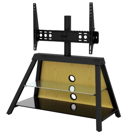An Image of AVF Options 37-65 Inch Easel TV Stand with Mount