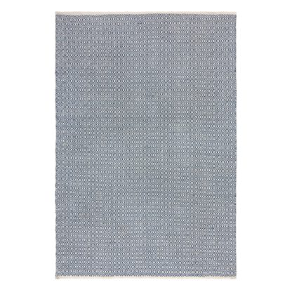 An Image of Diamond Weave Rug Grey and White