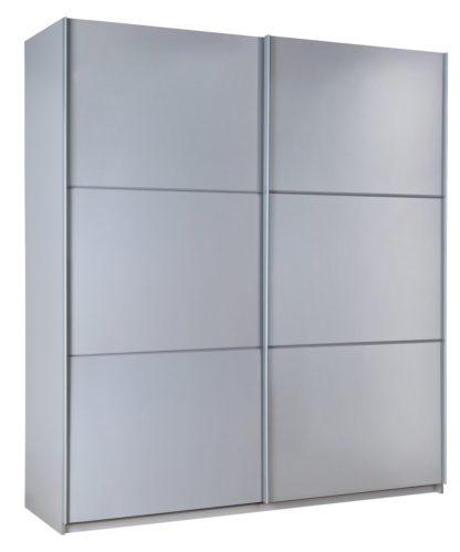 An Image of Habitat Holsted Grey Gloss Large Sliding Wardrobe