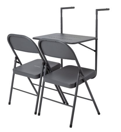 An Image of Argos Home Space Saving 2 Seater Balcony Bistro Set
