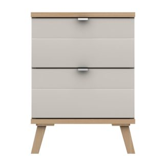An Image of Murray 2 Drawer Bedside Off-White