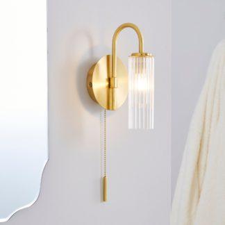 An Image of Dorma Henstone Bathroom Wall Light Gold