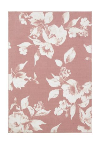 An Image of Argos Home Floral Rug - 120x170cm - Blush