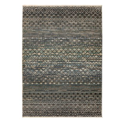 An Image of Miguel Rug Grey, Brown and White