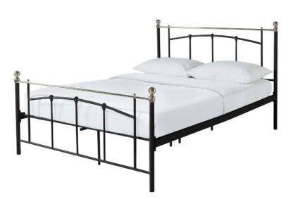 An Image of Habitat Yani Double Metal Bed Frame - Black