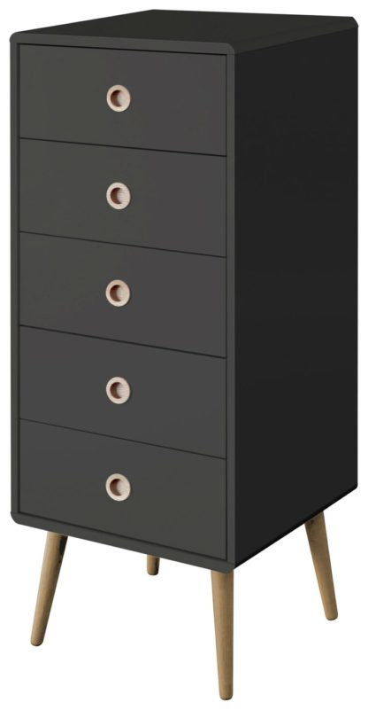 An Image of Softline 5 Drawer Chest of Drawers - Black