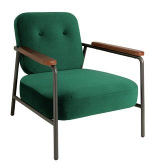 An Image of Habitat Cooper Armchair - Emerald Green